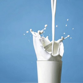 glass milk