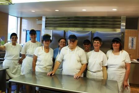 High school kitchen staff.