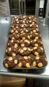 hot chocolate muffins